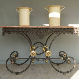 antique patisserie table or butchers table