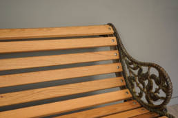 antique garden two seater seat