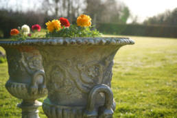 antique cast iron garden urns