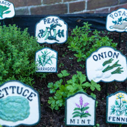 cast iron herb and vegetable markers