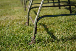 Wrought iron Arras chairs